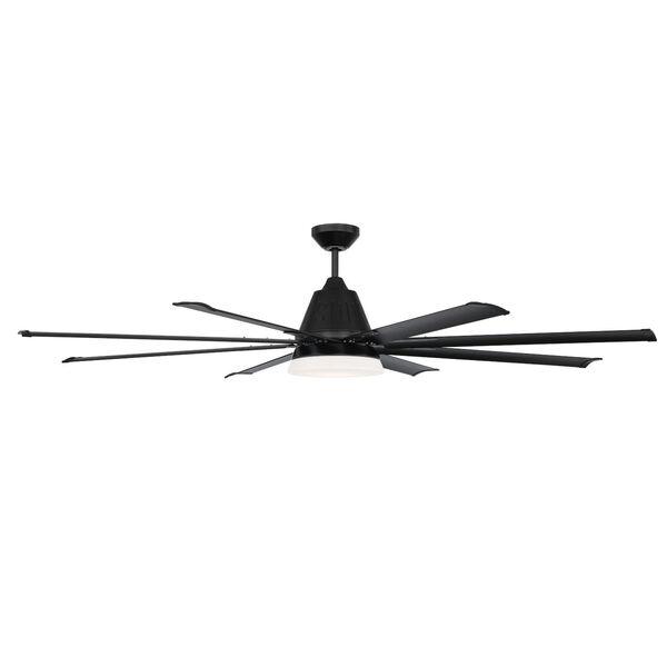 Wingtip Flat Black 72-Inch Ceiling Fan, image 3