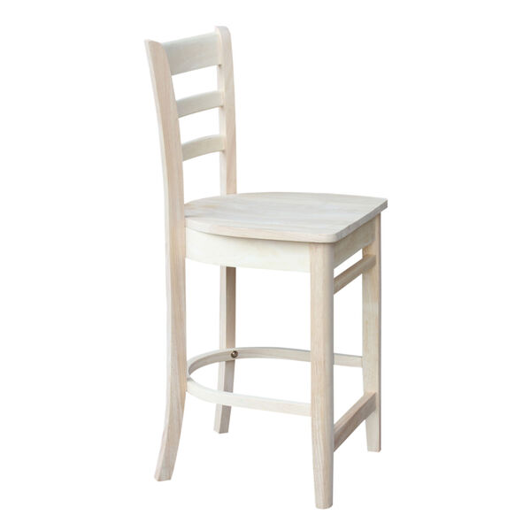 Wood 36-Inch Square Top Pedestal Table with Four Counter Height Stool, Set of Five, image 3