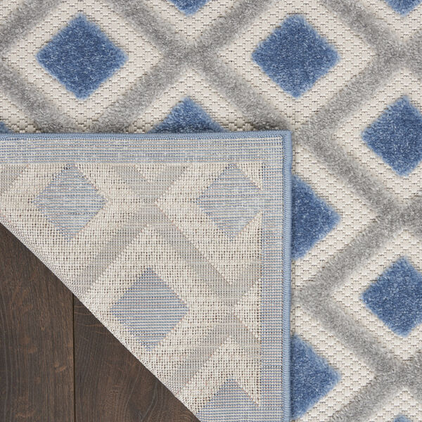 Aloha Blue and Gray Indoor/Outdoor Area Rug, image 3