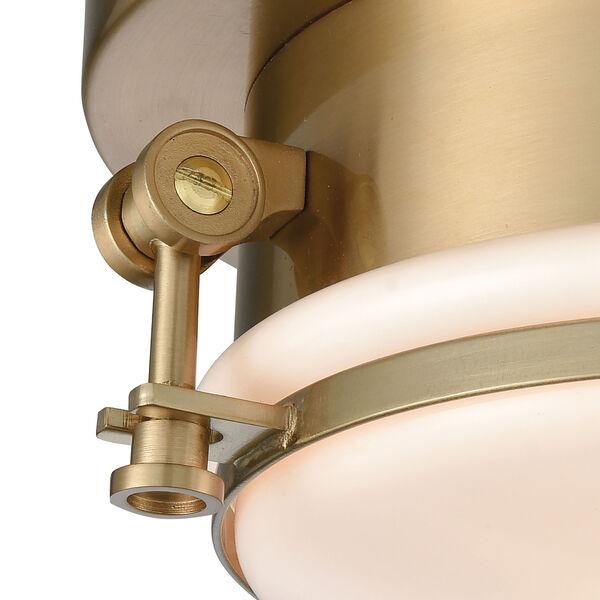 Riley Satin Brass One-Light Flush Mount, image 2