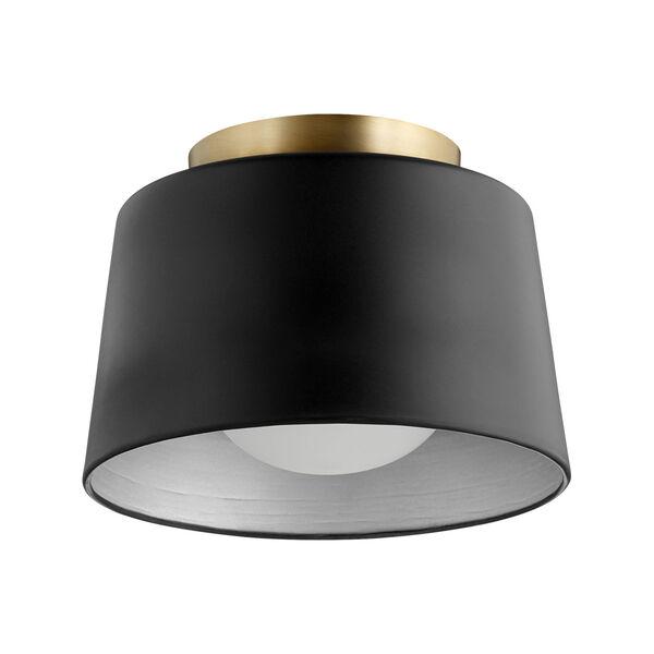 Black 11-Inch One-Light Flush Mount, image 1