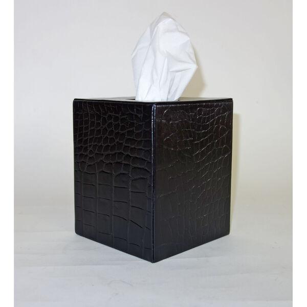 Black Leather Tissue Box., image 1