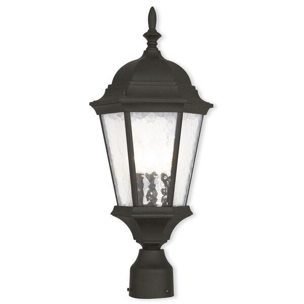 Hamilton Textured Black 9.5-Inch Three-Light Outdoor Post Lantern, image 1