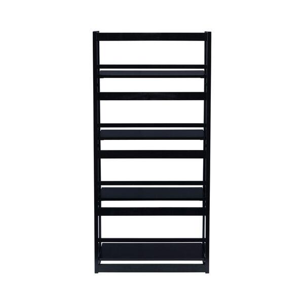 Olivia Black Folding Bookcase, image 5