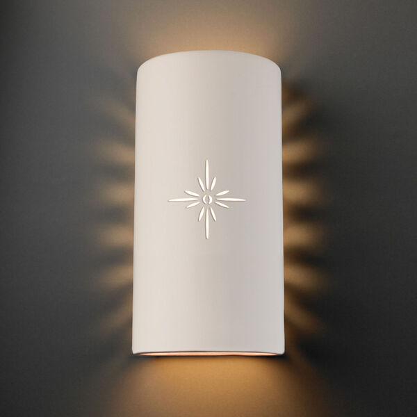 Sun Dagger Matte White 11-Inch Two-Light Cylinder Closed Top and Bottom GU24 LED Outdoor Wall Sconce, image 2