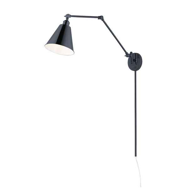 Library Black 37-Inch One-Light Wall Sconce, image 1