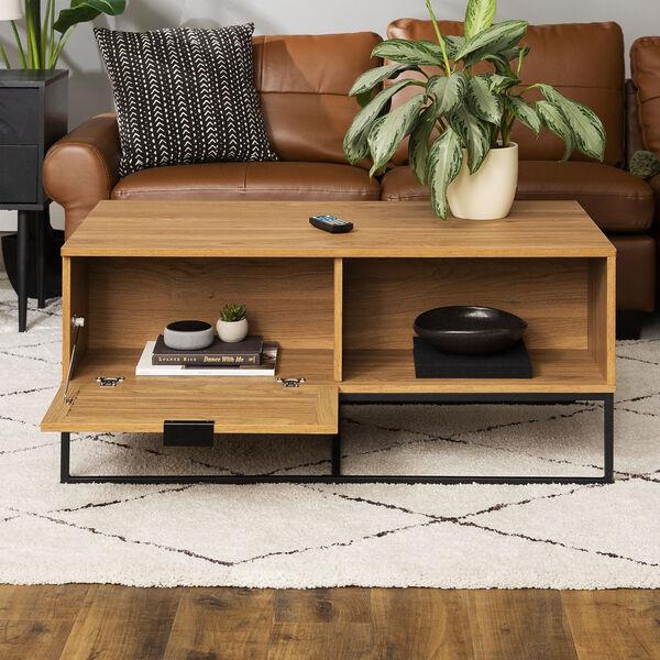 Jackson English Oak and Black Slat Door Coffee Table, image 4