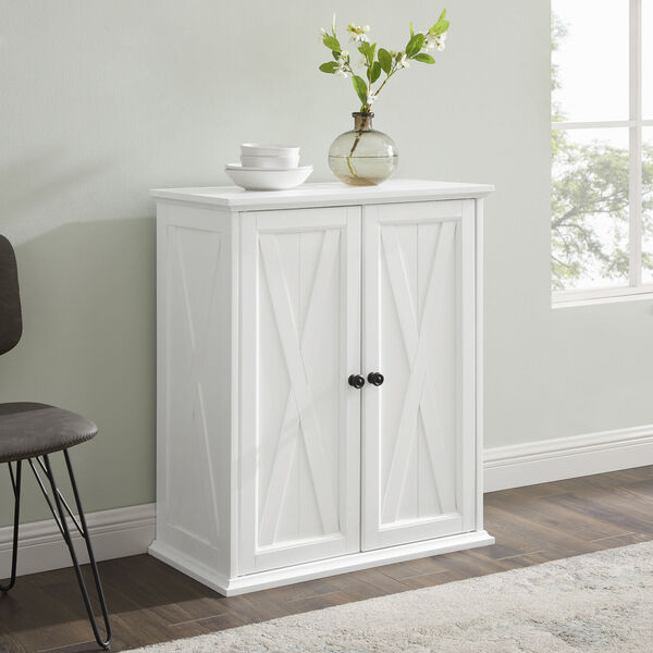 Clifton Distressed White Stackable Kitchen Pantry, image 6