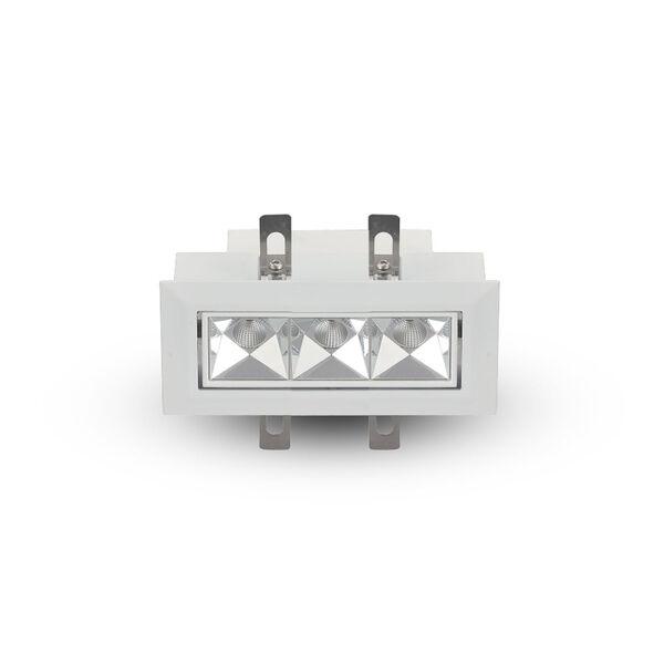 Rubik White Three-Light Adjustable LED Recessed Downlight, image 1