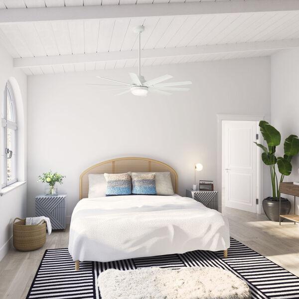 Overton Matte White 60-Inch Two-Light DC LED Ceiling Fan, image 3