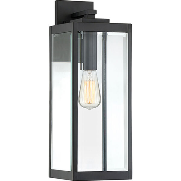 Pax Black 20-Inch One-Light Outdoor Wall Lantern with Beveled Glass, image 1