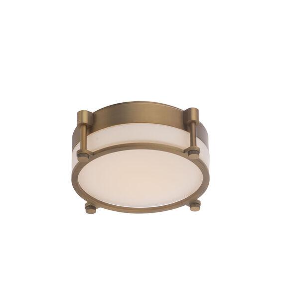 Wright Aged Brass 10-Inch LED Flush Mount, image 1