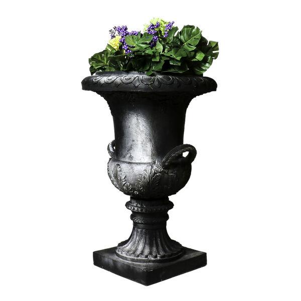 Soot Fiberstone Campiania Handle Urn, image 1