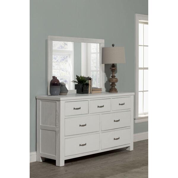Highlands White 7 Drawer Dresser With Mirror, image 1