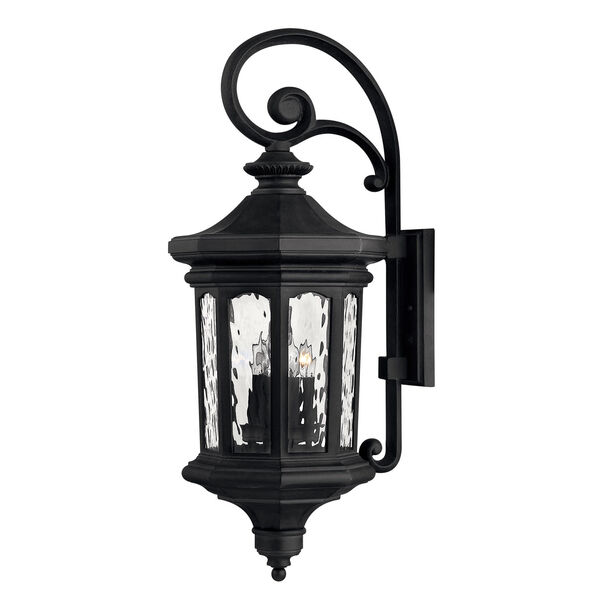 Raley Large Museum Black Outdoor Wall Mount, image 1