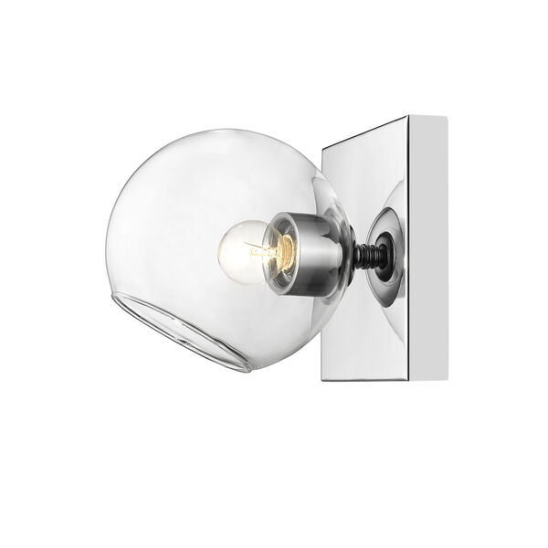 Marquee Chrome One-Light Bath Sconce, image 3