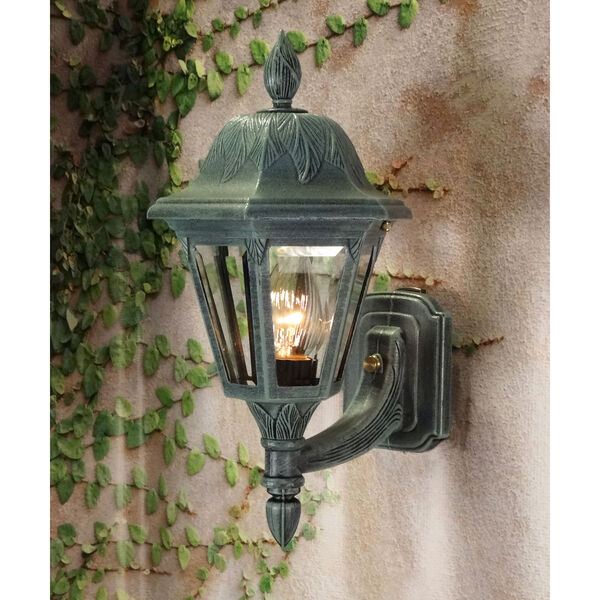 Floral Small Outdoor Bottom Wall Mount, image 2