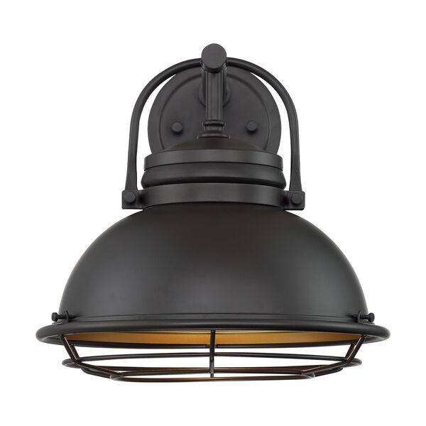 Upton Dark Bronze and Gold 12-Inch One-Light Outdoor Wall Mount, image 3