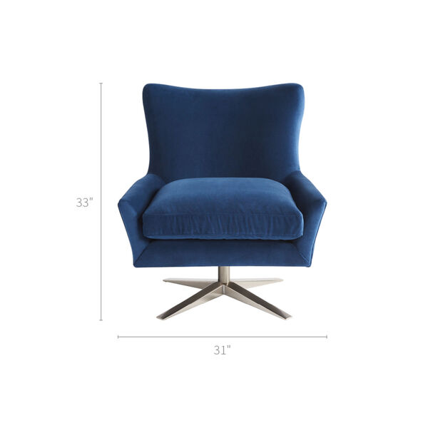 Everette Blue 31-Inch Chair, image 1
