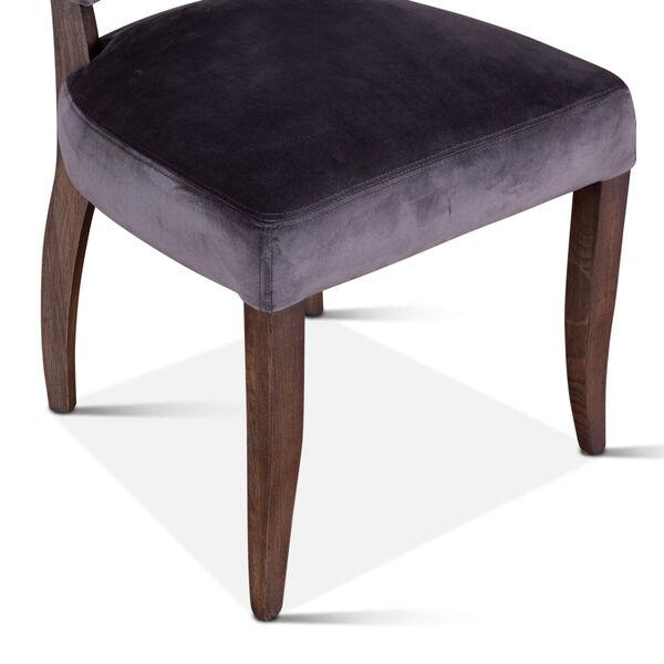 Portia Asphalt Gray and Weathered Teak Velvet Side Chair, Set of 2, image 3