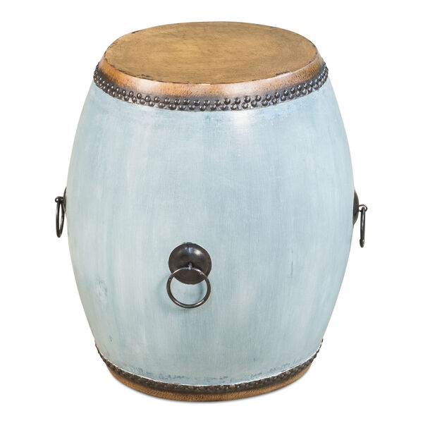Blue Drum End Table, image 1