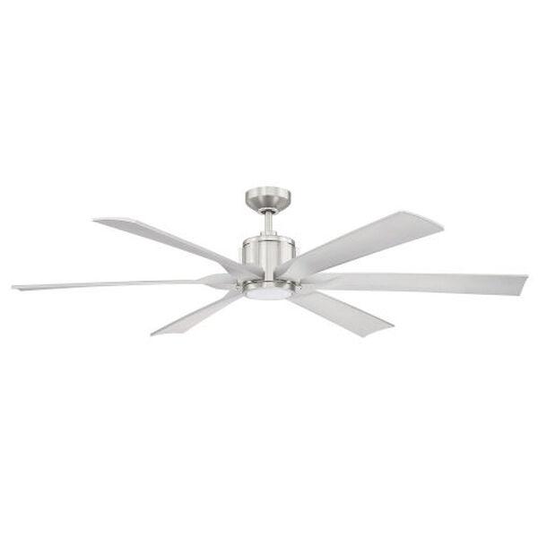 Mach-1 Satin Nickel 60-Inch LED Ceiling Fan, image 1