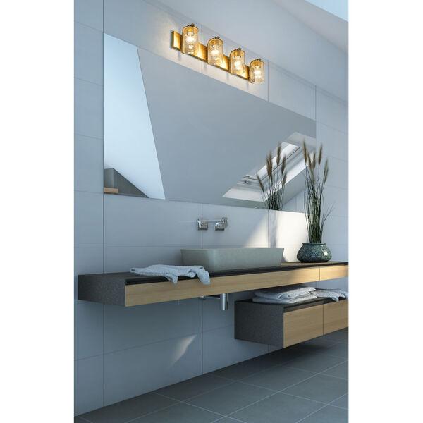 Beckett Olde Brass Four-Light Bath Vanity, image 3