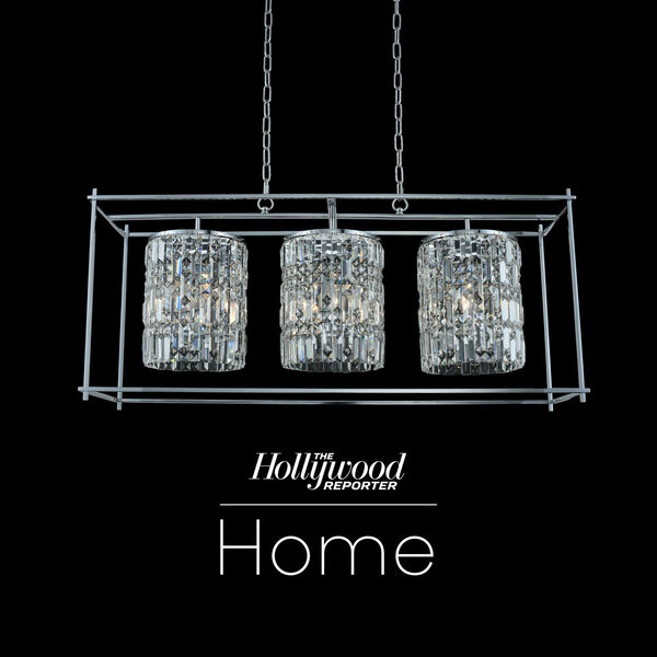 The Hollywood Reporter Joni Chrome 14-Inch Nine-Light Island Pendant with Firenze Crystal, image 1