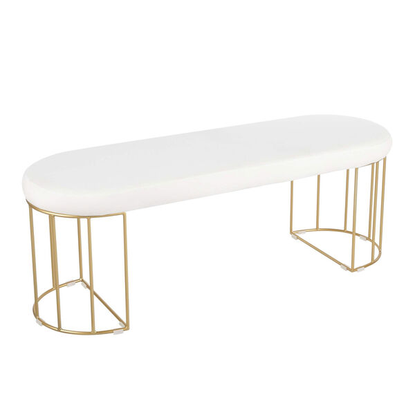 Canary Gold and White Bench, image 1