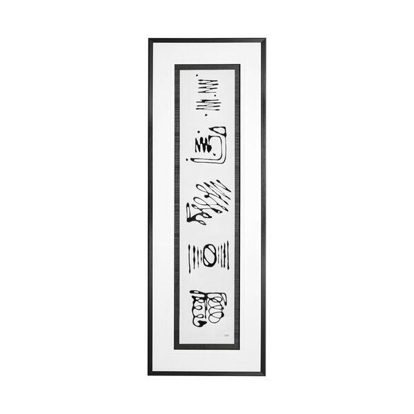 Black Ancient Notes III Wall Art, image 1