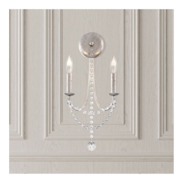 Verdana Antique Silver Two-Light Wall Sconce, image 2