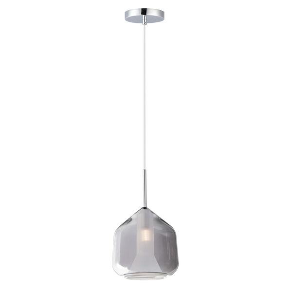 Deuce Polished Chrome One-Light LED Mini Pendant, image 1