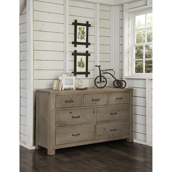 Highlands Driftwood 7 Drawer Dresser, image 1