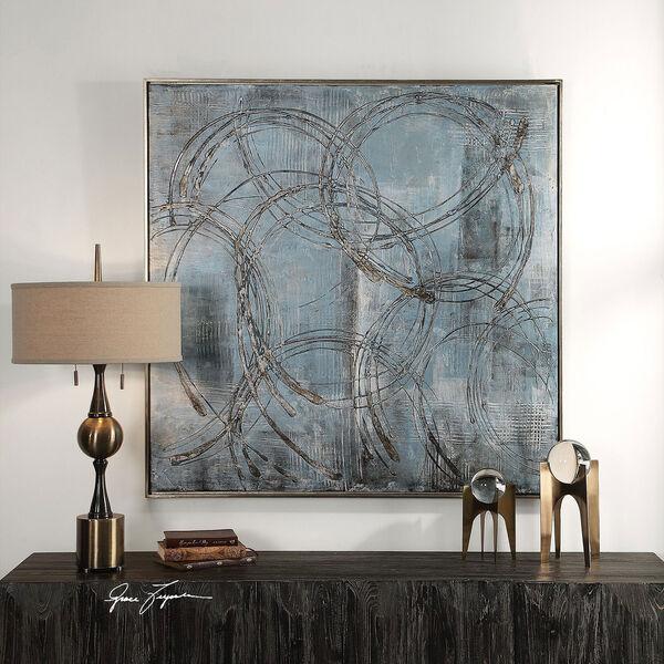 Interlock Blue Modern Art, image 3