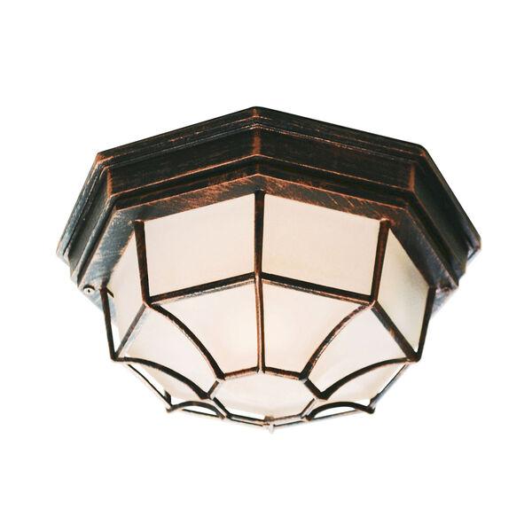Wagoneel Black Copper 11-Inch Outdoor Flush Mount Ceiling Light, image 1
