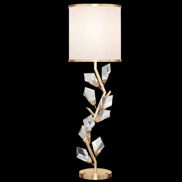 Foret Gold White One-Light Console Lamp, image 1