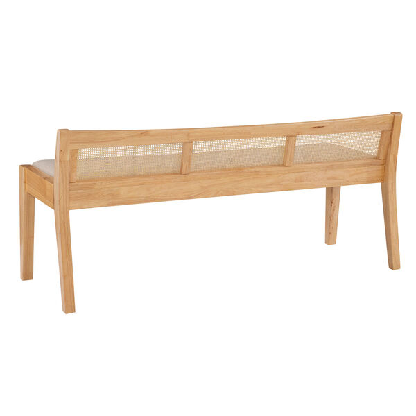 Lillian Natural and Beige Bench with Low Profile Back, image 4