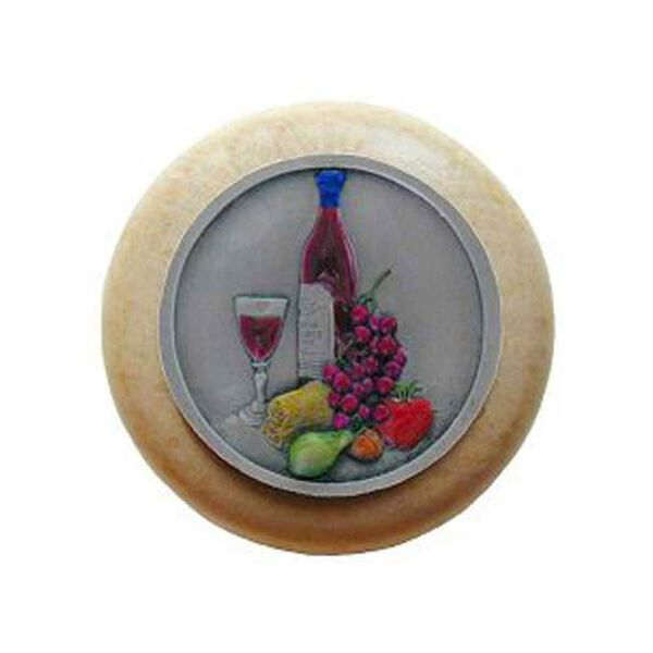 Natural Wood Best Cellar Knob with Pewter , image 1