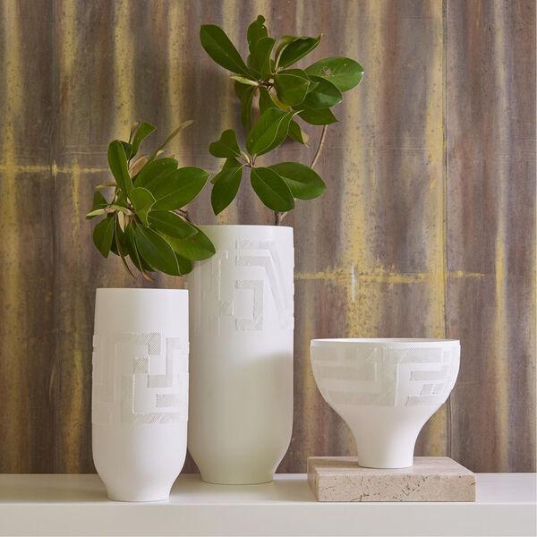 Studio A Home Matte White Small Chaco Vase, image 5