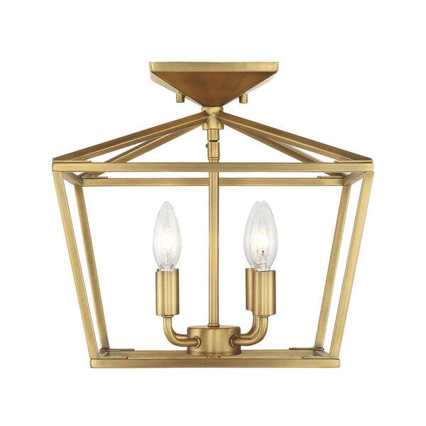 Townsend Warm Brass Four-Light Semi-Flush, image 1