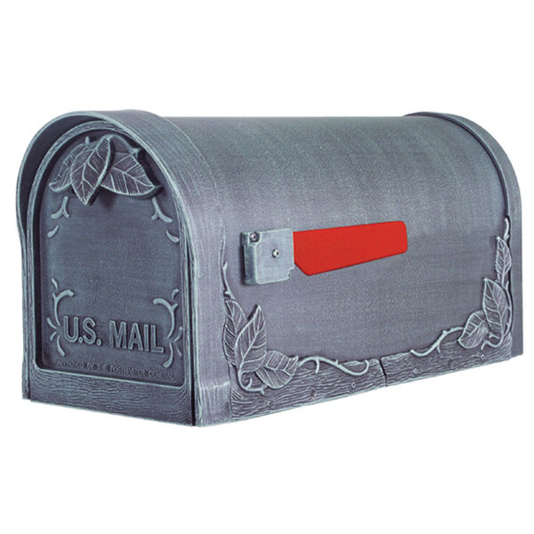 Floral Silver Curbside Mailbox, image 1