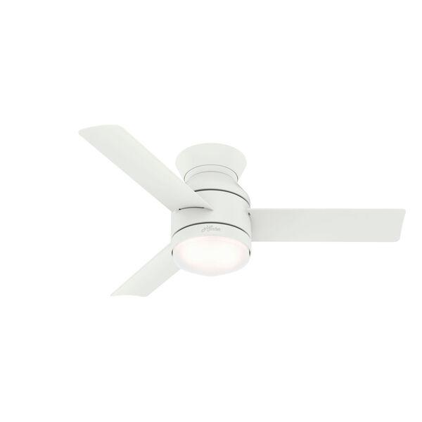 Dublin Matte White 44-Inch Two-Light LED Ceiling Fan, image 1