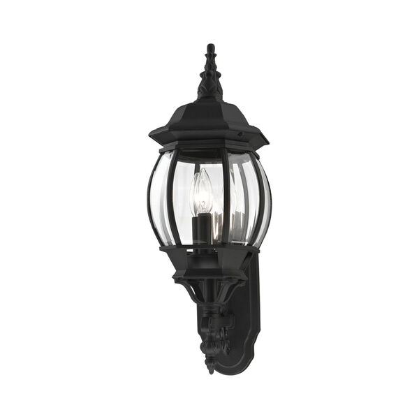 Frontenac Textured Black 22-Inch Three-Light Outdoor Wall Sconce, image 5