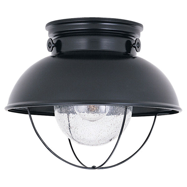 Sebring Black Outdoor Ceiling Light, image 1