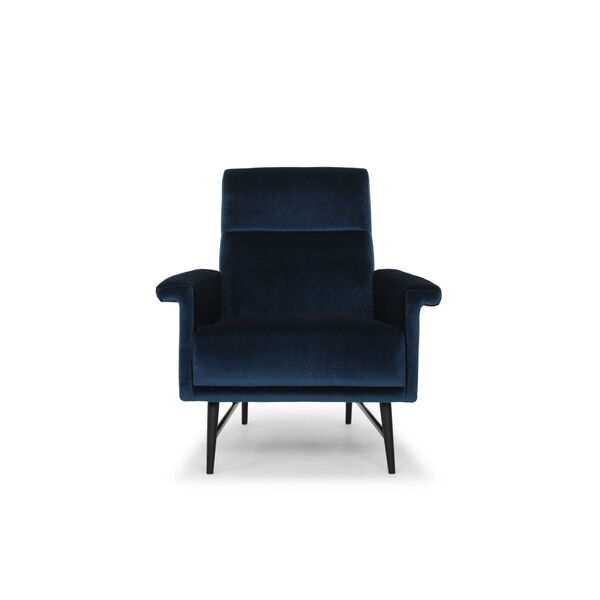 Mathise Midnight Blue and Black Occasional Chair, image 6