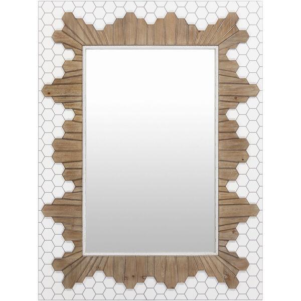 Genaro White Wall Mirror, image 2