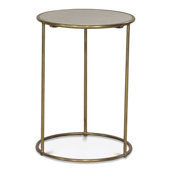 Gold Side Table, image 2