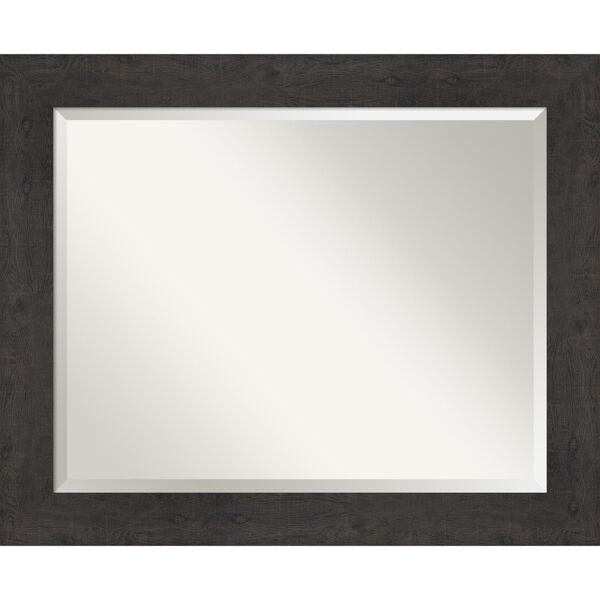 Espresso Frame 33W X 27H-Inch Bathroom Vanity Wall Mirror, image 1