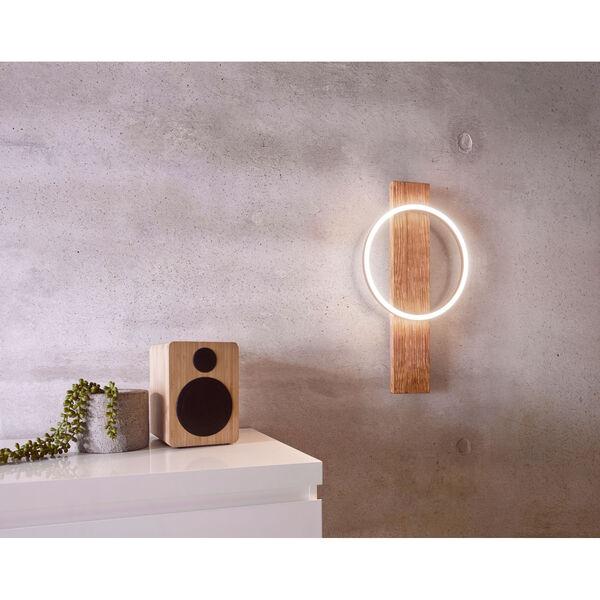 Boyal Brushed Pine Wood Integrated LED Wall Sconce, image 4