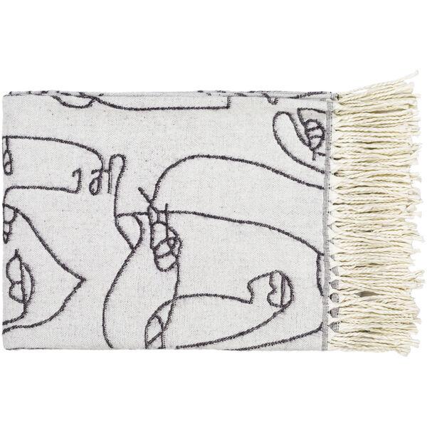 Jacquie Cream 47 x 60 Inch Throw, image 1
